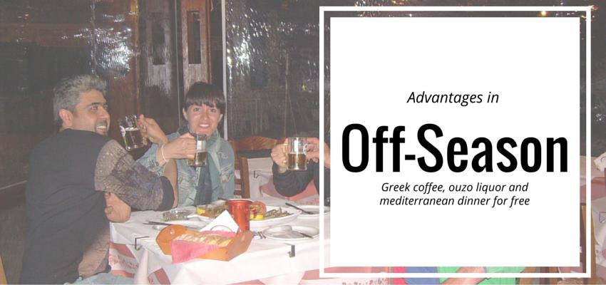 Off-season advantages in beautiful Greek Islands